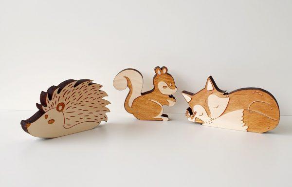 Tiere aus Zirbenholz