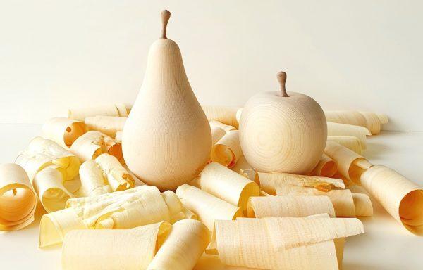 Apfel oder Birne aus Zirbenholz