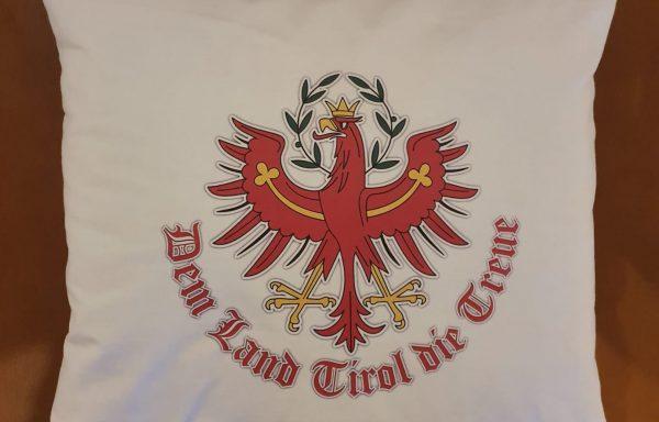 """Kopfkissen – """"Dem Land Tirol die Treue"""""""